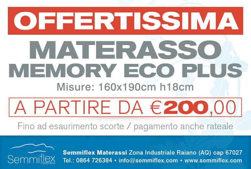 Materasso Ecomemory a partire da € 200,00
